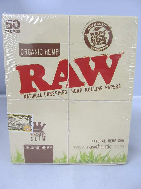 Raw Organic Hemp King Size Slim Paper 50 booklets