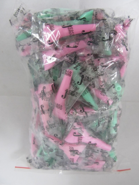 Coco Jamra Multi Color Vacuum Hookah Mouth Tips 100ct
