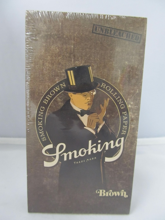 Smoking Brand Brown Unbleached 1-1/4 ROLLING PAPERS 25Booklets 50Leaves