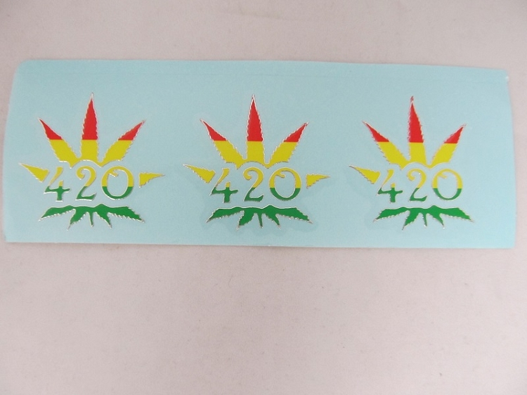 Sticker: Triple 420 Leaf