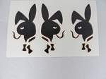 Sticker: Triple Smoking Bunny
