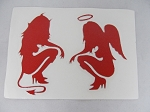 Sticker: Kneeling Devil & Angel Girls