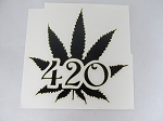 Sticker: 420 Large Leaf