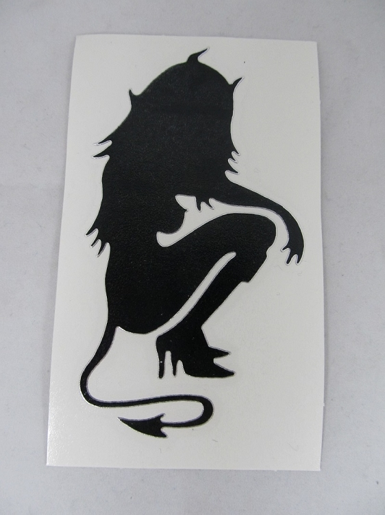Sticker: Kneeling Devil Girl