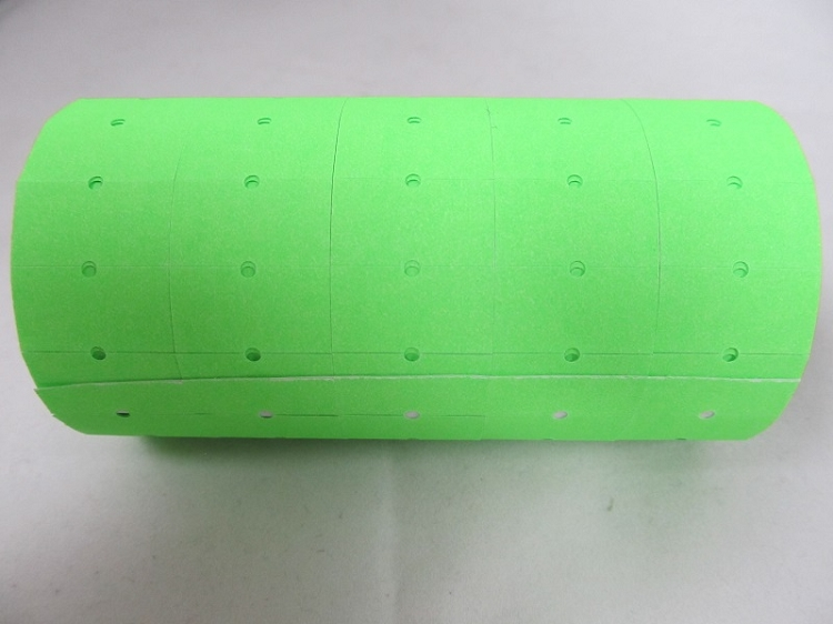 Price Gun Labels (Green) 5 rolls of 1000 labels each