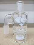 Diamond Glass 19mm 90 degree White Honey Comb Ash Catcher