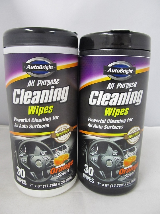 Auto Bright Cleaning Wipes Stash