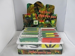 80mm Leather Rasta Leaf Design Cigarette Case 12ct