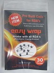 Easy Wrap 30 Gauge Pre-Built Kanthal Wire Coils w/Organic Cotton