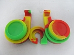 Double Silicone Jar Set w/ Holder