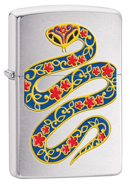 Zippo: Year Of The Snake Brushed Chrome # 28456