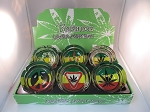 Rasta & Leaf Small Ashtrays 6CT Display