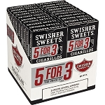 Swisher Sweets Cigarillos 5For3 Black 20/5 Pack