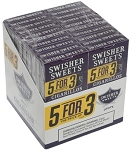 Swisher Sweets Cigarillos 5For3 Grape 20/5 Pack