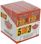 Swisher Sweets Cigarillos 5For3 Peach 20/5 Pack