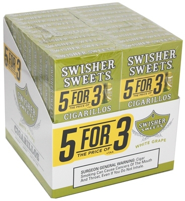 Swisher Sweets Cigarillos 5for3 White Grape 20 5 Pack