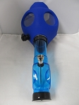 Blue Color Gas Mask W/ Plastic Pipe