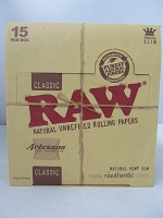 Raw Classic Artesano King Size 15ct 32leaves (Tray+Paper+Tips)