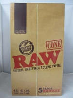 Raw 5 Stage Rawket Cone 15pack