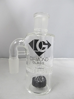 Diamond Glass 19mm 90 degree Black Honey Comb Ash Catcher