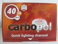 Carbopol 40mm Quick Lighting Charcoal 100ct