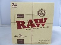 Raw Connoisseur Organic King Size Slim Rolling Papers w/Tip 24Booklets 32Leaves