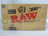 Raw 300's 1-1/4 Rolling Papers 20ct