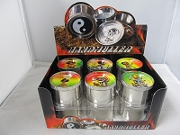 Rasta Man Mix Design 4 Part Grinder 12ct Display