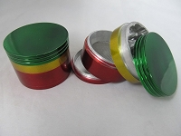 56mm Rasta Color 4 Part Grinder
