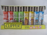 Clipper Refillable Lighter Funny Animals 48ct Display