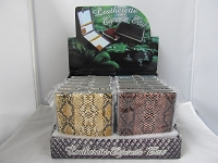 100mm Cigarette Case w/ Assorted Snake Skin Leather Wraping 12ct