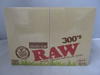 Raw Organic 300's 1-1/4 Rolling Papers 40ct