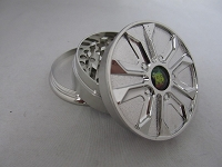 Three Part Rim Grinder w/ Assorted Bob Marley Designs 1ct