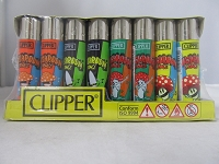 Clipper Refillable Lighter Mushroom Dance 48ct Display