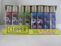 Clipper Refillable Lighter Santa Muerte 48ct Display