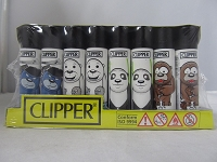 Clipper Refillable Lighter Bears 48ct Display