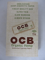OCB Organic Hemp 1-1/4 Size Paper 24 Booklets 50 Leaves