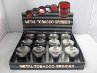 42mm Sharpstone Concave Zinc Grinder 12ct Display