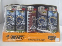 Los Angeles RAMS Bic Lighter 50ct