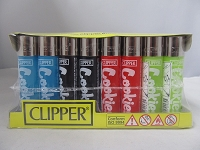 Clipper Refillable Lighter Cookies 48ct Display