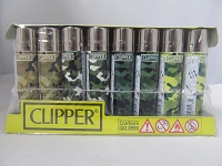 Clipper Refillable Lighter Camo 48ct Display