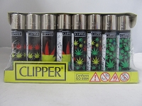 Clipper Refillable Lighter Leaves2 48ct Display
