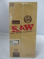 Raw Classic Hemp 1-1/2 Rolling Papers 25 booklets