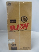 Raw Classic Single Wide Hemp Rolling Papers 25 booklets