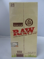 Raw Organic Single Wide Hemp Rolling Papers 25 booklets