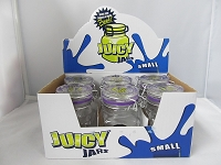 Juicy Small Clear Glass Jars w/ Stickers 6ct Display