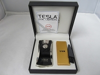 Tesla Dual Arch Electric Plasma USB Powered Rechargeable Lighter (Silver)