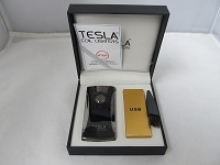 Tesla Dual Arch Electric Plasma USB Powered Rechargeable Lighter (Black)