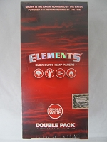 Elements Red Hemp Single Wide Paper 25 booklets Double Pack