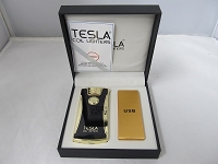 Tesla Dual Arch Electric Plasma USB Powered Rechargeable Lighter (Gold)